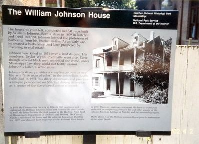 The William Johnson House Marker image. Click for full size.