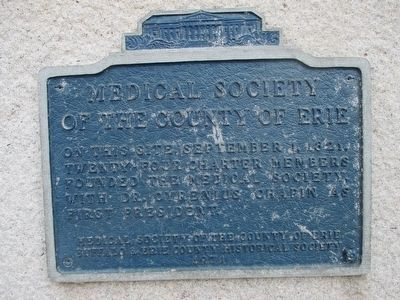 Medical Society of the County of Erie Marker image. Click for full size.