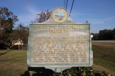 Craig Sugar Mill Chimney Marker image. Click for full size.