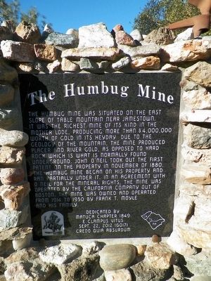 The Humbug Mine Marker image. Click for full size.