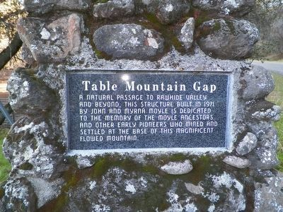 Table Mountain Gap Marker image. Click for full size.