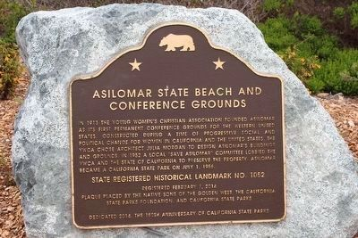 Asilomar State Beach and Conference Grounds Marker image. Click for full size.