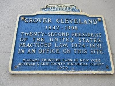 Grover Cleveland Marker image. Click for full size.
