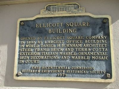 Ellicott Square Building Marker image. Click for full size.