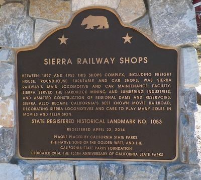 Sierra Railway Shops Marker image. Click for full size.