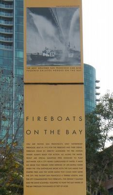 Fireboats on the Bay Marker (detail) image. Click for full size.