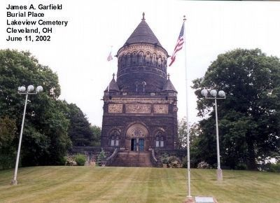 Burial Place of James A. Garfield image. Click for full size.