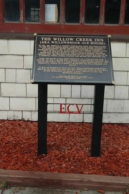 The Willow Creek Inn (AKA Willowbrook Ale House) Marker image. Click for full size.