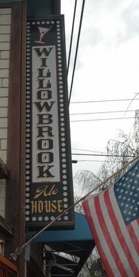 The Willow Creek Inn (AKA Willowbrook Ale House) Sign image. Click for full size.