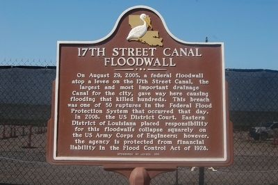 17th Street Canal Floodwall Marker image. Click for full size.