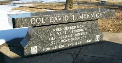 Col. David T. McKnight Memorial Bench image. Click for full size.