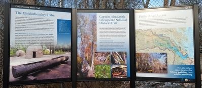 Chickahominy Water Trail Marker image. Click for full size.