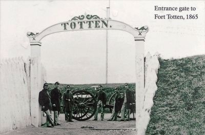 Entrance Gate to Fort Totten 1865 image. Click for full size.