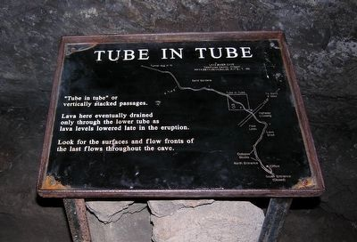 Lava River Cave Marker<br>Tube in Tube image. Click for full size.