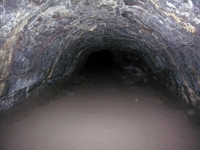 The Lava Tube in Lava River Cave image. Click for full size.