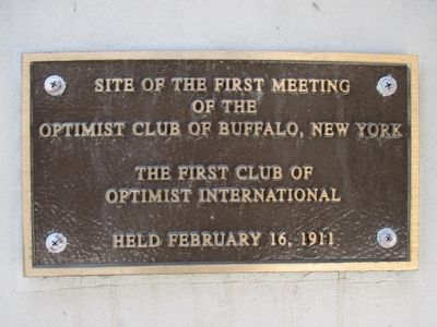 Site of the First Meeting of the Optimist Club Marker image. Click for full size.