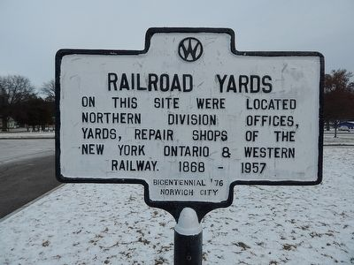 Railroad Yards Marker image. Click for full size.