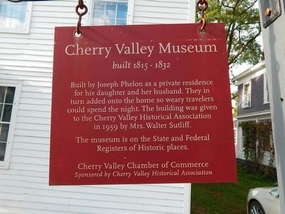 Cherry Valley Museum Marker image. Click for full size.