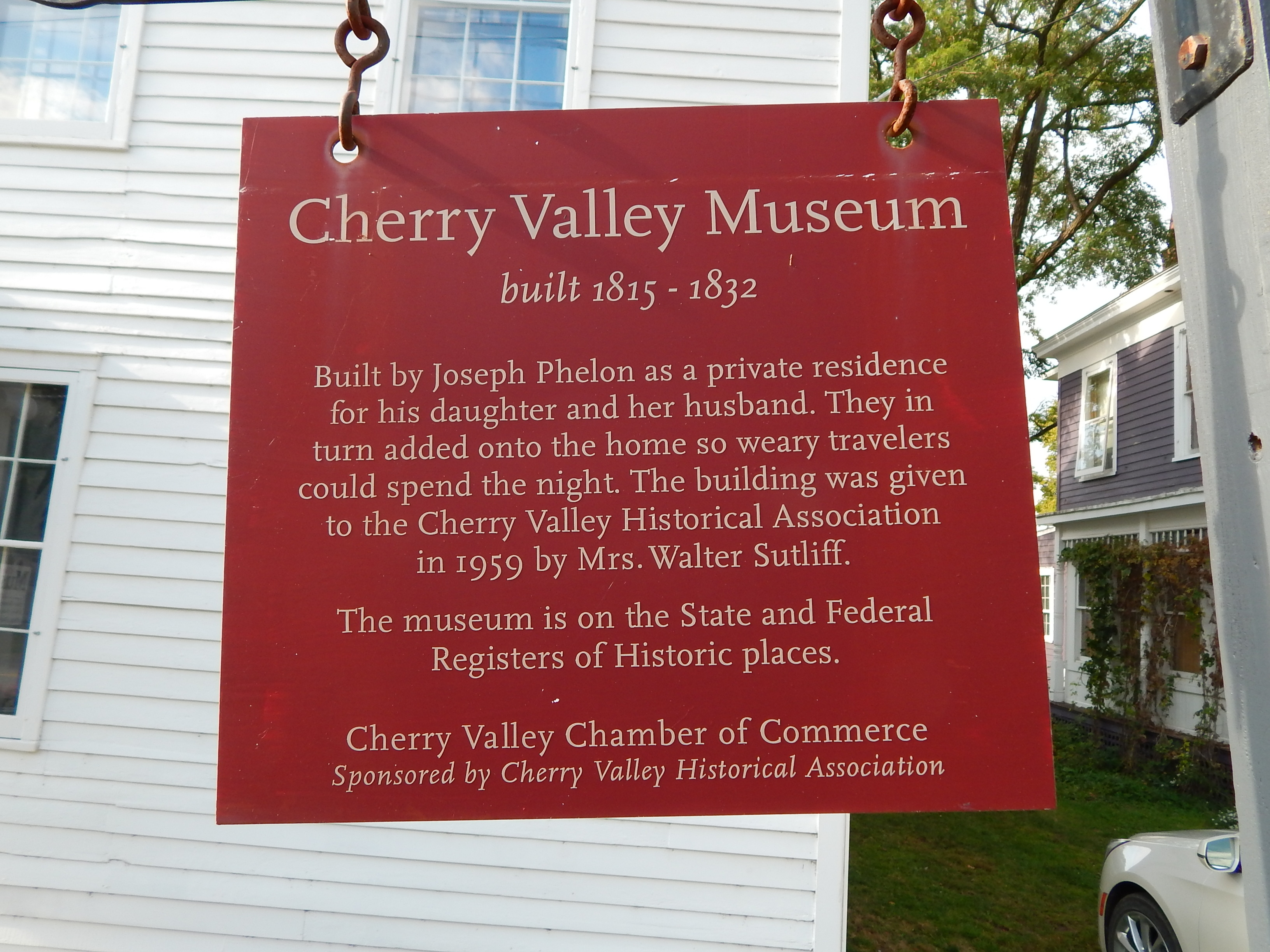 Cherry Valley Museum Marker