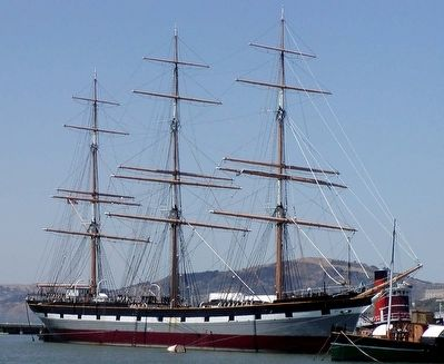 The <i>Balclutha</i> docked in San Francisco image. Click for full size.