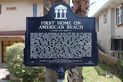 First Home in American Beach Marker image. Click for full size.