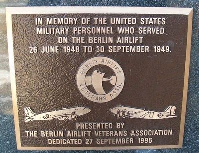 Berlin Airlift Veterans Marker image. Click for full size.