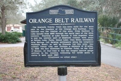 Orange Belt Railway Marker image. Click for full size.