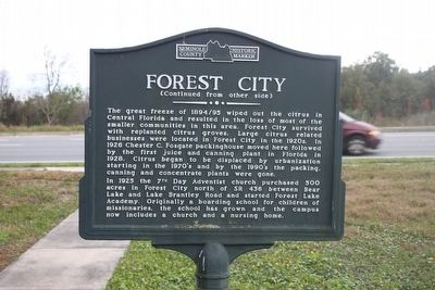 Forest City Marker reverse image. Click for full size.