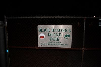 Black Hammock island Park entrance image. Click for full size.