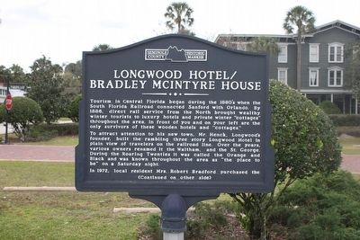 Longwood Hotel/Bradley McIntyre House Marker Side 1 image. Click for full size.