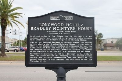 Longwood Hotel/Bradley McIntyre House Marker Side 2 image. Click for full size.