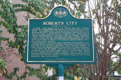 Roberts City Marker image. Click for full size.
