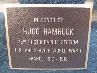 Hugo Hamrock Marker image. Click for full size.