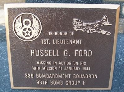 1st. Lieutenant Russell G. Ford Marker image. Click for full size.
