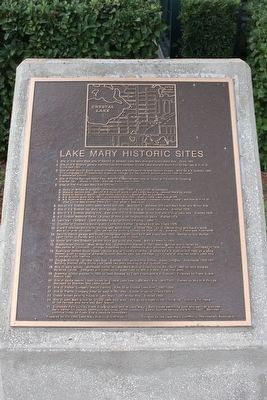 Lake Mary Historic Sites Marker image. Click for full size.