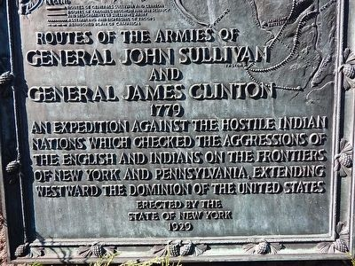 Routes of the Armies of General John Sullivan and General James Clinton Marker image. Click for full size.