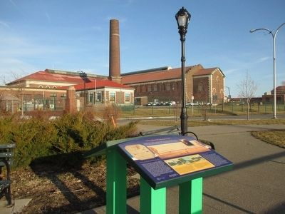 Marker & Buffalo City Water Pumping Station image. Click for full size.
