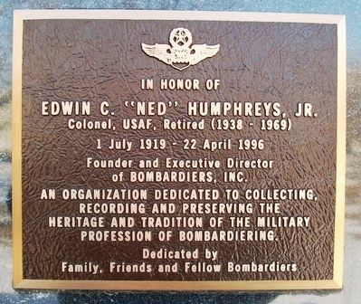 "Edwin C. ""Ned"" Humphreys, Jr. Marker image. Click for full size."