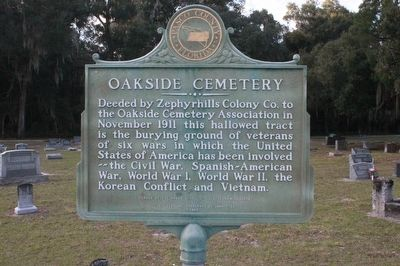 Oakside Cemetery Marker image. Click for full size.
