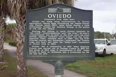 Oviedo Marker-Side 2 image. Click for full size.