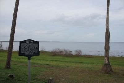 Fort Lane Marker and Lake Harney image. Click for full size.