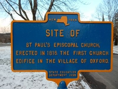 Site of St. Paul's Episcopal Church Marker image. Click for full size.