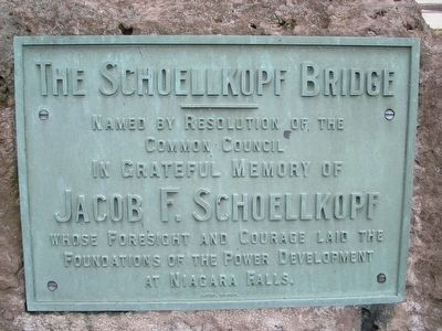Schoelkopf Bridge Dedication Plaque image. Click for full size.
