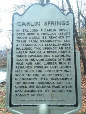 Carlin Springs Marker image. Click for full size.