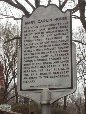 Mary Carlin House Marker image. Click for full size.