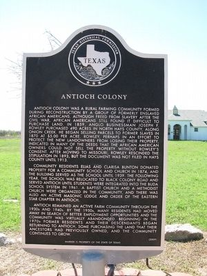 Antioch Colony Marker image. Click for full size.