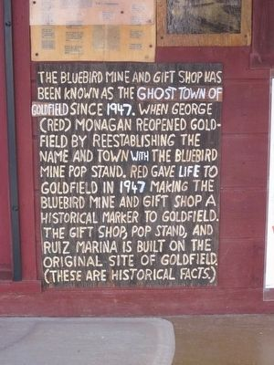 Bluebird Mine and Gift Shop Marker image. Click for full size.