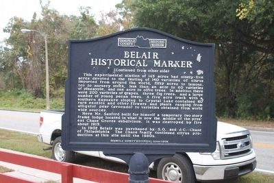 Belair Historical Marker Marker-Side 2 image. Click for full size.