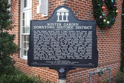 Winter Garden Downtown Historic District Marker image. Click for full size.