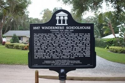 1887 Windermere Schoolhouse Marker-Side 2 image. Click for full size.